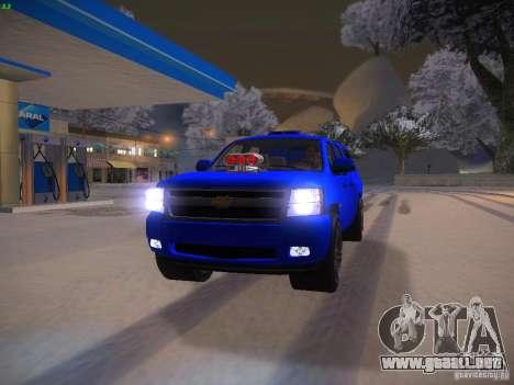 Chevrolet Silverado para vista lateral GTA San Andreas