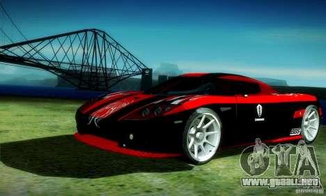 Koenigsegg CCX para visión interna GTA San Andreas