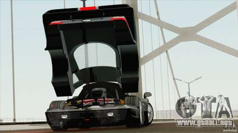 Mercedes-Benz CLK GTR Race Road Version Stock para la visión correcta GTA San Andreas