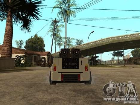 Uaz Cabriolet para GTA San Andreas vista posterior izquierda