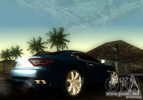 Maserati Gran Turismo para GTA San Andreas vista posterior izquierda