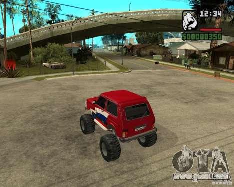 VAZ-21213 4x4 Monster para la visión correcta GTA San Andreas