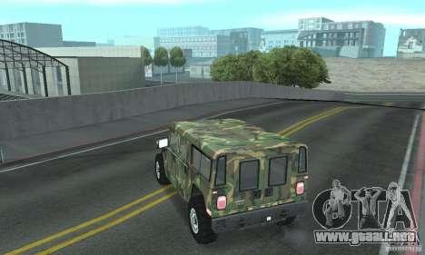 Hummer H1 para las ruedas de GTA San Andreas