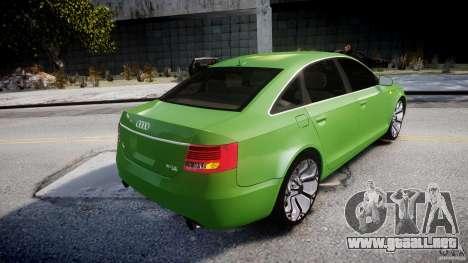 Audi A6 TDI 3.0 para GTA 4 vista desde abajo