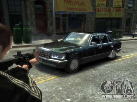 Mercedes-Benz W126 SEL560 1990 para GTA 4 vista lateral