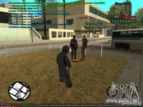 m0d S0beit 4.3.0.0 Full rus para GTA San Andreas sucesivamente de pantalla