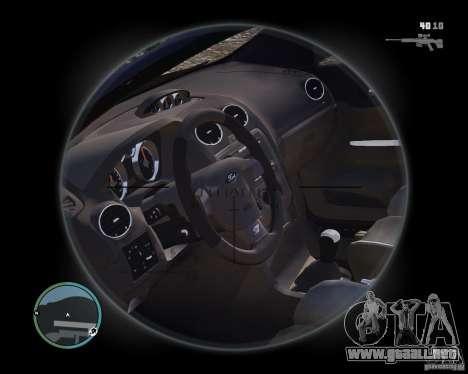 Ford Focus ST 2006 v1.1 para GTA 4 visión correcta