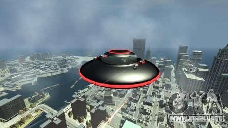UFO neon ufo red para GTA 4 vista hacia atrás
