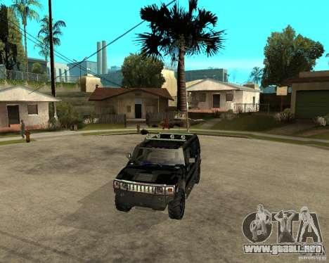 FBI Hummer H2 para vista lateral GTA San Andreas