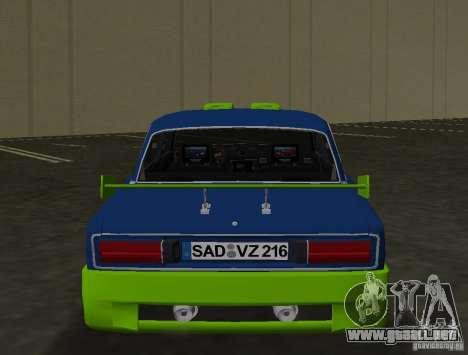 2106 VAZ Tuning v3.0 para GTA Vice City vista posterior