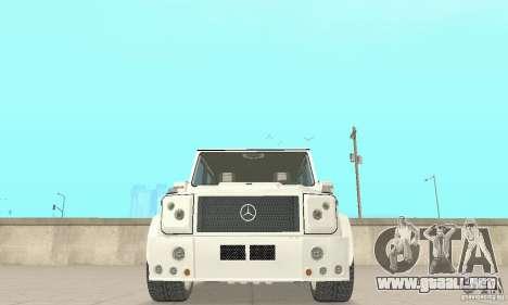 Mercedes-Benz G500 Zailer 2004 para visión interna GTA San Andreas