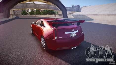 Cadillac CTS-V Coupe para GTA 4 Vista posterior izquierda
