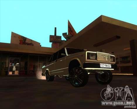 VAZ 2107 Azeri Style para GTA San Andreas vista hacia atrás