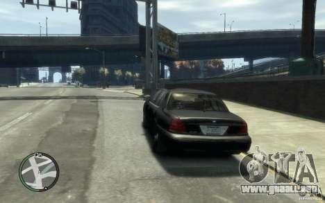 Crown Victoria para GTA 4 Vista posterior izquierda