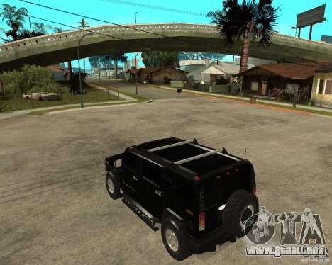 AMG H2 HUMMER SUV FBI para GTA San Andreas left