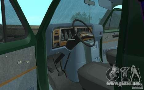Ford E-150 Short Version v3 para GTA San Andreas vista hacia atrás