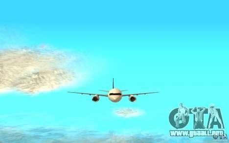 Boeing 757-200 para GTA San Andreas vista posterior izquierda