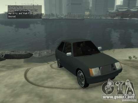 ZAZ Tavria 1102 para GTA 4 Vista posterior izquierda