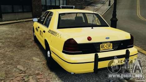Ford Crown Victoria NYC Taxi 2004 para GTA 4 Vista posterior izquierda