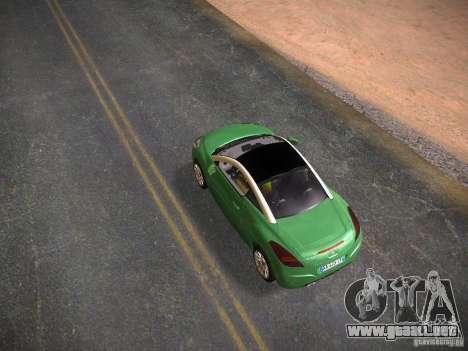 Peugeot RCZ 2010 para GTA San Andreas vista posterior izquierda