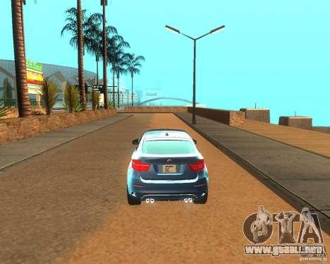 BMW Motorsport X6 M v. 2.0 para la visión correcta GTA San Andreas