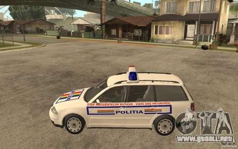 VW Passat B5+ Variant Politia Romana para GTA San Andreas left