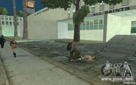 Animación del GTA IV para GTA San Andreas octavo de pantalla