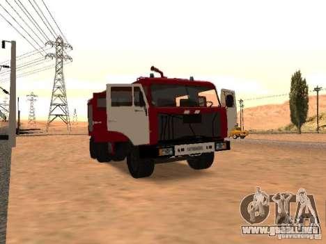 KAMAZ 53229 bombero para GTA San Andreas vista posterior izquierda