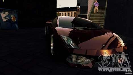 Lamborghini Gallardo Hamann para GTA 4 interior