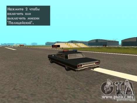 Police Savanna para GTA San Andreas left
