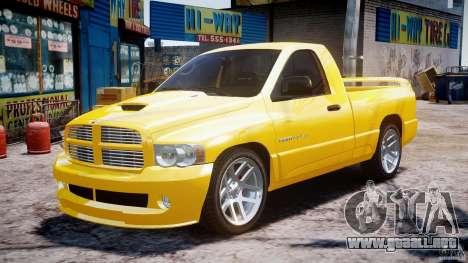 Dodge Ram SRT-10 2003 1.0 para GTA 4 vista hacia atrás
