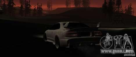 Toyota Celica 1993 Light tuning para GTA San Andreas vista posterior izquierda