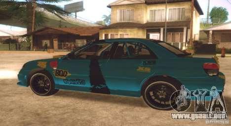Subaru Impreza WRX STI Futou Battle para GTA San Andreas vista hacia atrás