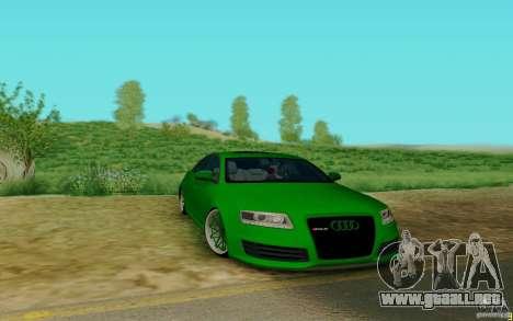Audi RS6 OTIS para GTA San Andreas left