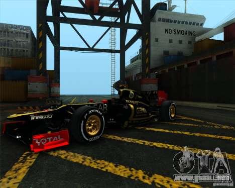 Lotus E20 F1 2012 para la visión correcta GTA San Andreas