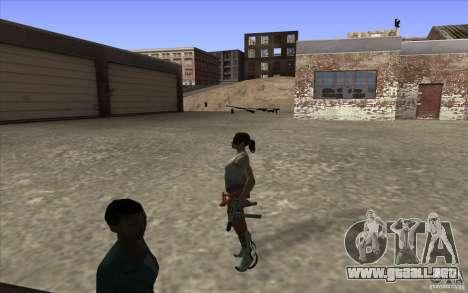 Chell from Portal 2 para GTA San Andreas tercera pantalla