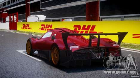 Pagani Zonda R para GTA 4 Vista posterior izquierda