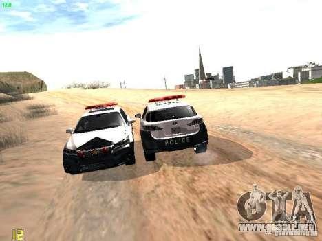 Lexus CT200H Japanese Police para vista inferior GTA San Andreas