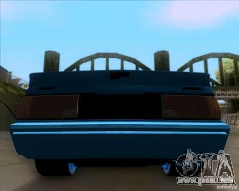 Mitsubishi Starion para vista lateral GTA San Andreas