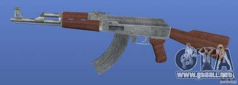 AK47 Retex 1.1 Chrome para GTA 4 tercera pantalla