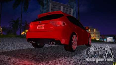 Subaru Impreza WRX STI (GRB) - LHD para GTA Vice City visión correcta