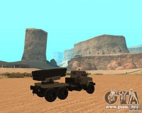KrAZ-63211 JAMZ v. 1 para la visión correcta GTA San Andreas