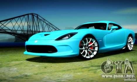 Dodge Viper SRT  GTS para GTA San Andreas vista hacia atrás