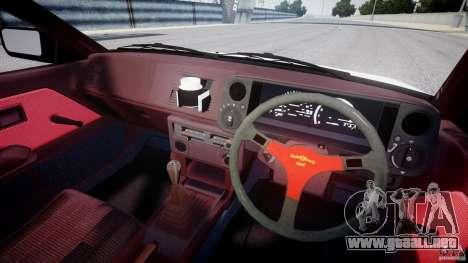 Toyota Trueno AE86 Initial D para GTA 4 vista hacia atrás