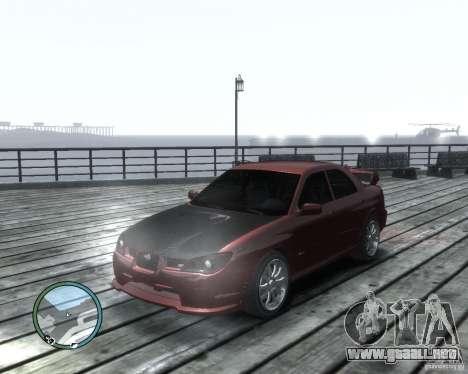 Subaru Impreza WRX STI 2006 para GTA 4 left
