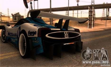 Pagani Zonda R para la visión correcta GTA San Andreas