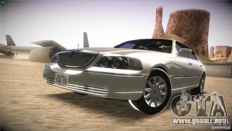 Lincoln Towncar 2010 para GTA San Andreas left
