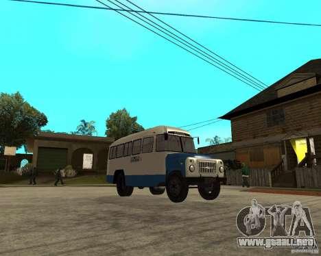 Kavz-685 para GTA San Andreas vista hacia atrás