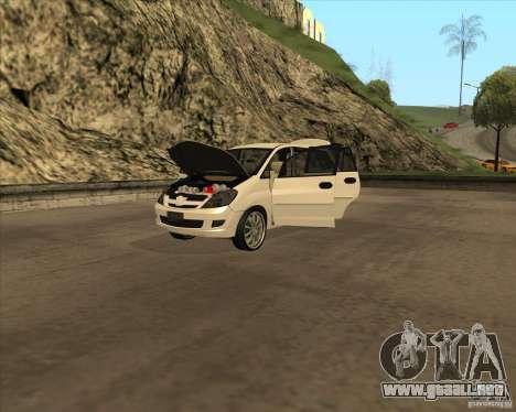 Toyota Innova para vista lateral GTA San Andreas