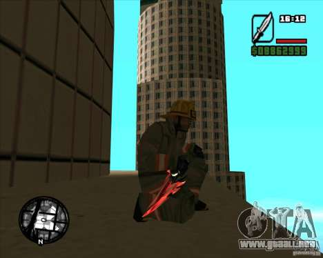 Chrome black red gun pack para GTA San Andreas quinta pantalla